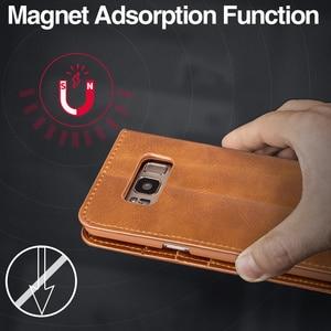 Image 5 - Роскошный кожаный чехол Musubo с откидной крышкой для Samsung Galaxy S10 Plus S10 + S10E S9 Plus S8 + S9 + чехол с отделением для карт