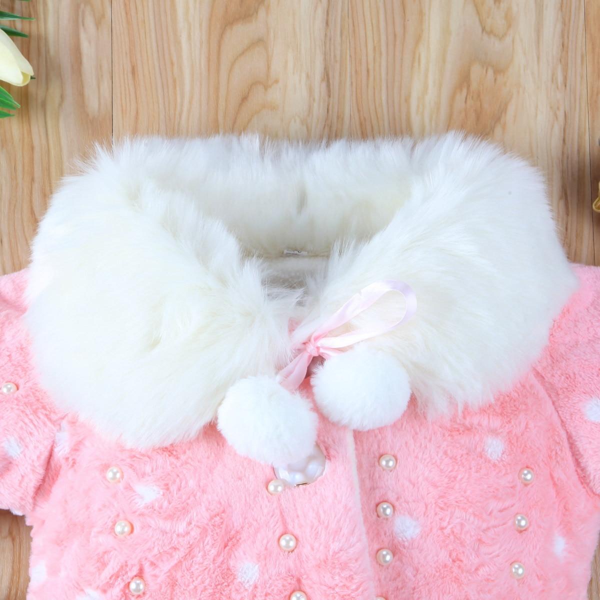 Newboan Baby Kids Girl Faux Fur Warm Coat Toddler Girls Bling Plush Winter Outwear Warming Kid Cute Thicken Coats Clothing
