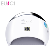 EUSCI SUN UV SUN6 48W Nail Dryer Auto Sensor Portable Lamp For Drying Low Heat Model Double Power Fast Manicure Led