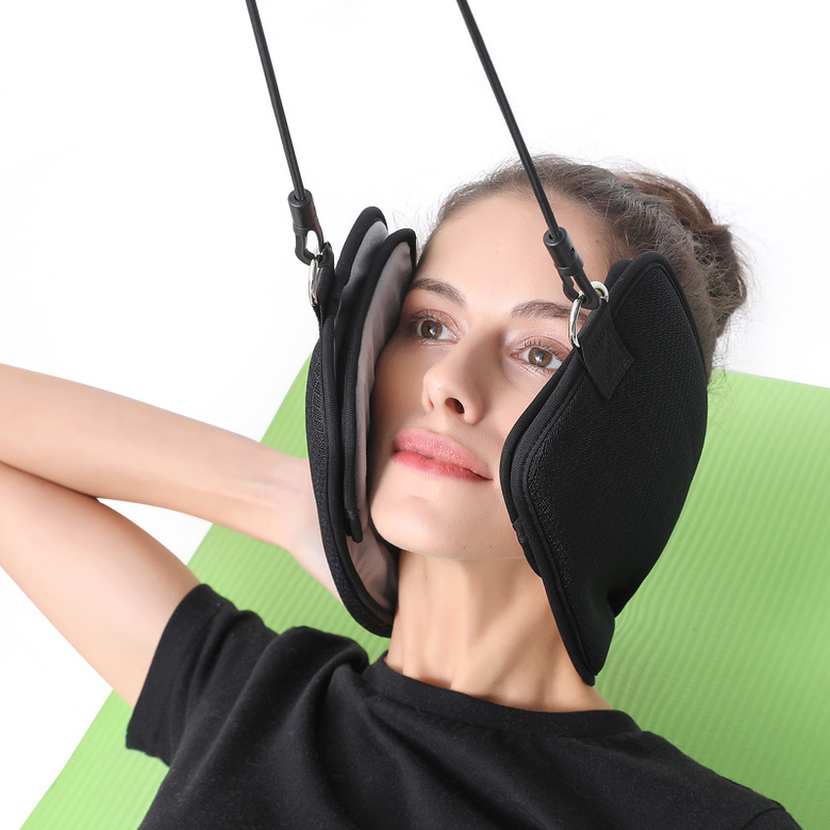 2019 Breathable Fashion Portable Head Hammock Traction Device Cervical Posture Alignment Support Without Smell Neck Massager New in Hammocks from Furniture