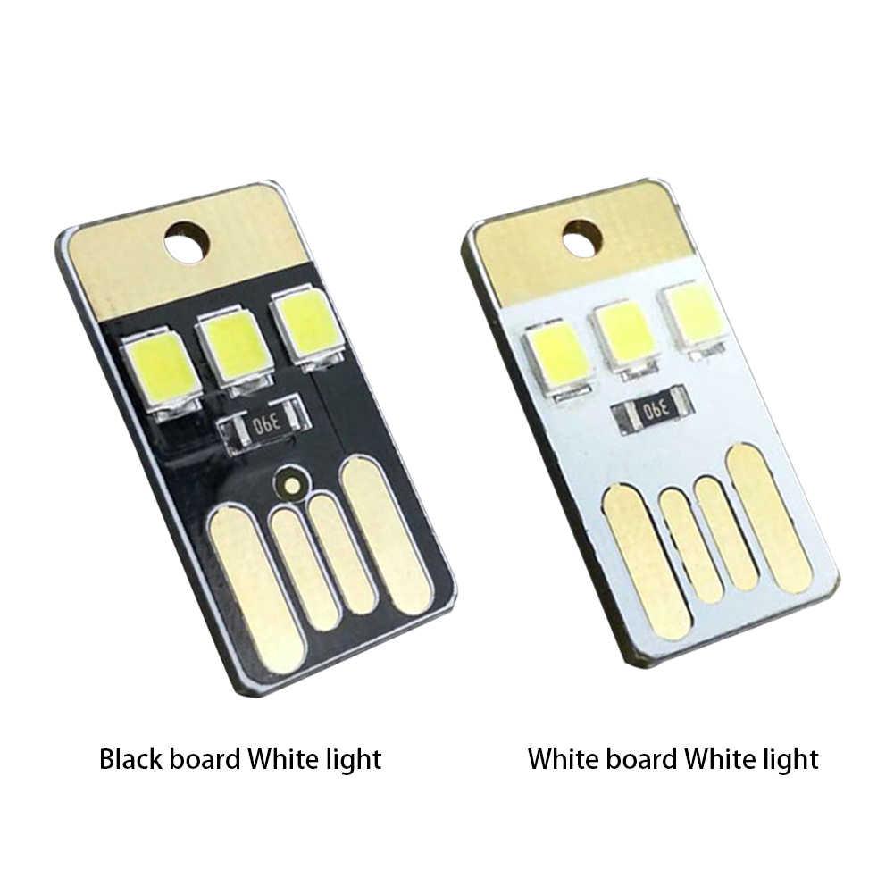חד צדדי כיס כרטיס מנורת הנורה Led Keychain מיני LED לילה אור נייד USB כוח