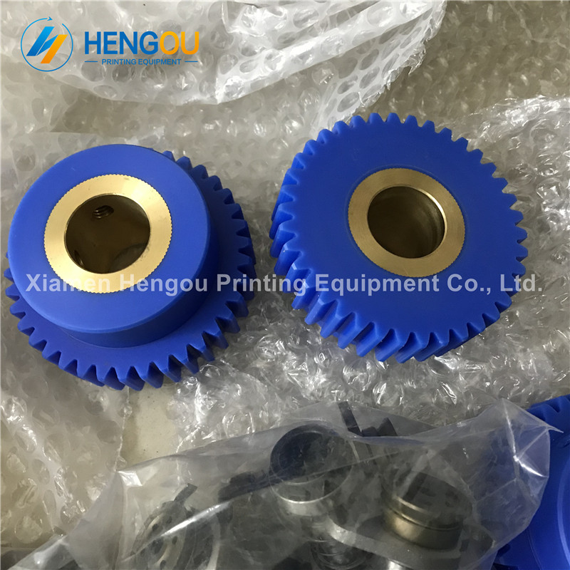 4 Pieces free shipping Komori machine gear 38 teeth komori offset printing machine spare parts 20 pieces free shipping heidelberg printing machine spare parts feeder wheel size 60 8mm