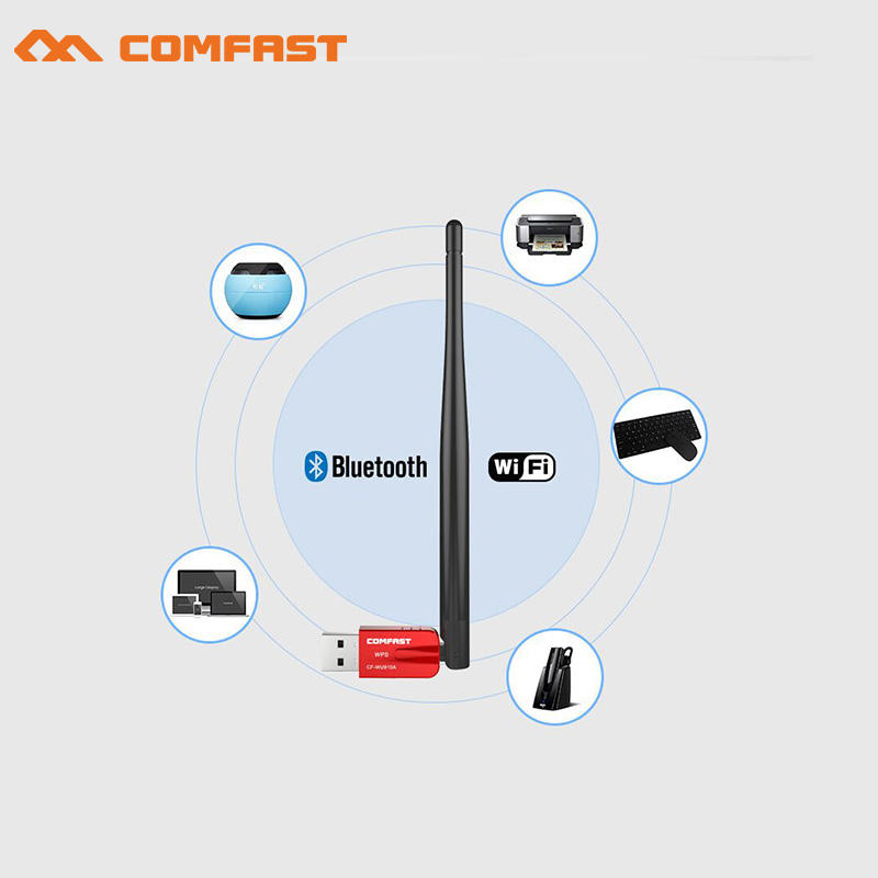 600Mbps USB WiFi Adapter 2.4G 5G WiFi Antenna PC Mini Wireless Computer Network Card Dual Band 802.11ac bluetooth wi fi Receiver