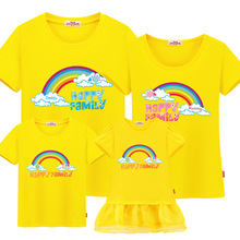 mother and son outfits cotton casual T-shirt family matching outfits boy mother and daugher clothes family clothing Short sleeve