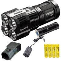 Nitecore TM28 6000 Люмен крошечный Монстр супер яркий 716 двор Перезаряжаемые светодио дный фонарик с NBP68HD Батарея пакет, 4 шт. Батарея