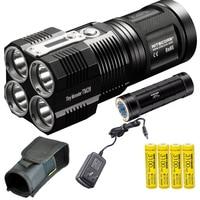 Nitecore TM28 6000 Lumen Tiny Monster Super Bright 716 Yard Rechargeable LED Flashlight with NBP68HD Battery Pack ,4pcs battery