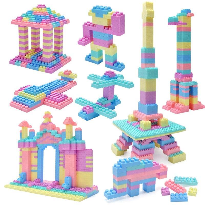 2019 New Macarons Amazing Building Blocks Children's Intellectual Power Diy Toys Kindergarten Spelling Inserted Hot Toys