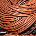 5Meters/lot Dia 6mm Round Brown Genuine/Real Leather Cord/Thread/Strings Fitting Necklace Bracelet Jewelry Making Materials F16