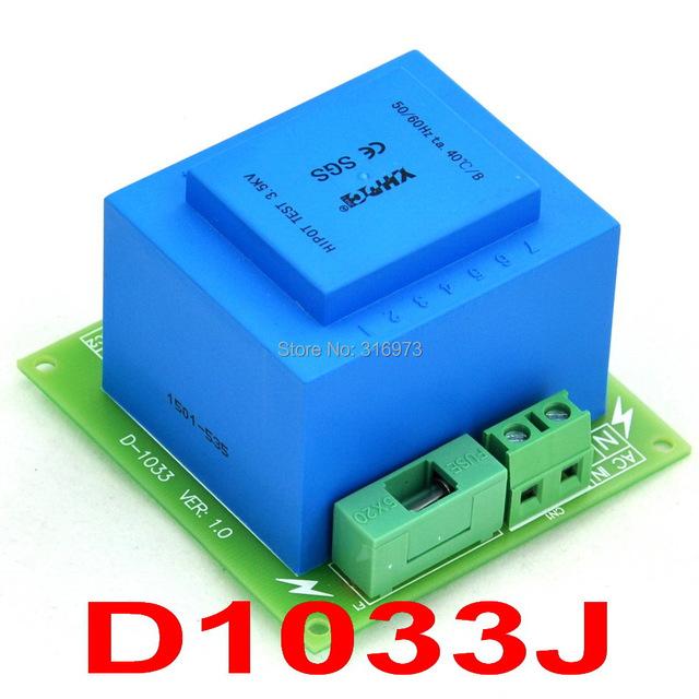 115VAC primaria, secundaria 2x 12VAC, 20VA Transformador De Potencia Módulo, D-1033/J, AC12V