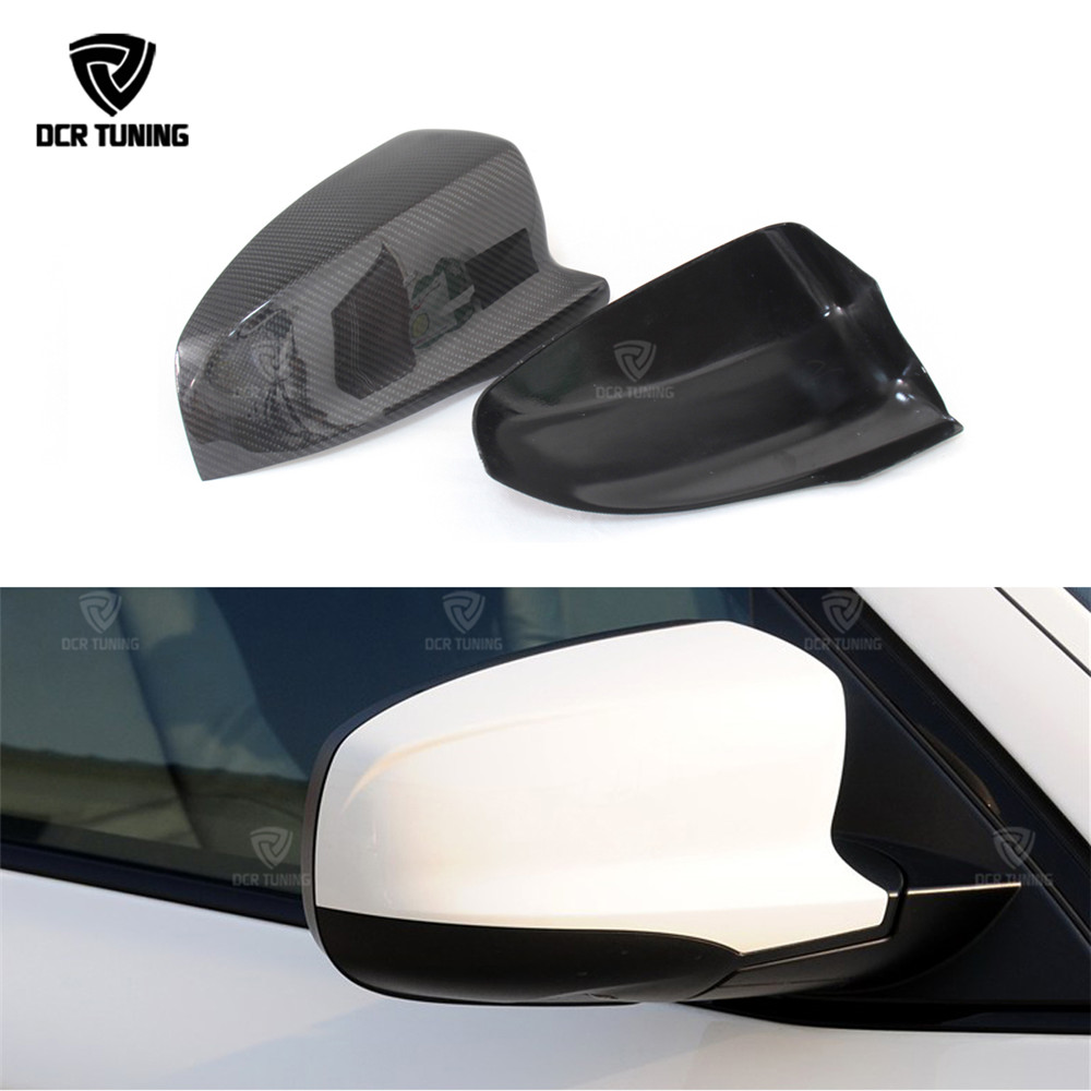 цена на 2 pics/pair For BMW X5M E70 X6M E71 2008 - 2013 Carbon Fiber Rear View Side Mirror Cover Add on style & Replacement Style