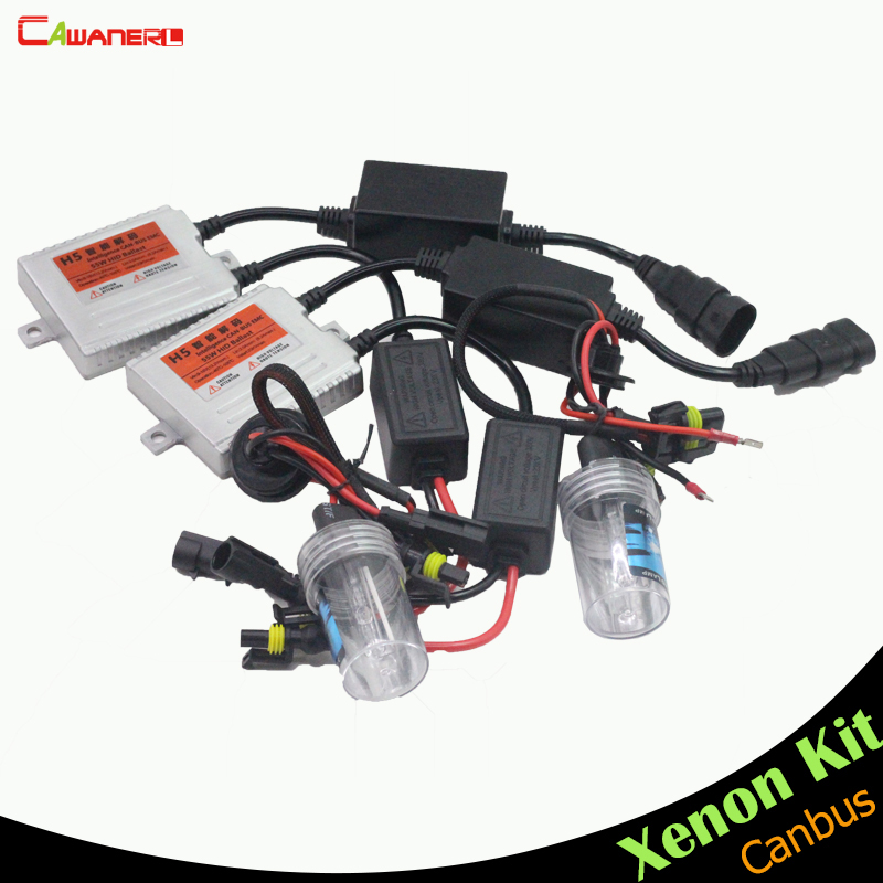Cawanerl 9005 H10 HB3 55W Error Free HID Xenon Kit Canbus Ballast Bulb AC Car Headlight Fog Light DRL Daytime Running Lamp