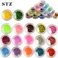 45 unids belleza Glitter 45 colores en polvo acrílico Paillette Nail Art Tips polvo 3d del brillo del arte polaco Gel DIY uñas de los pies NC228