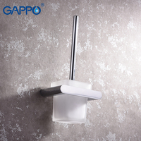 GAPPO Toilet Brush Holders wall mounted bathroom Brush Holders hanger bath hardware accessories storage