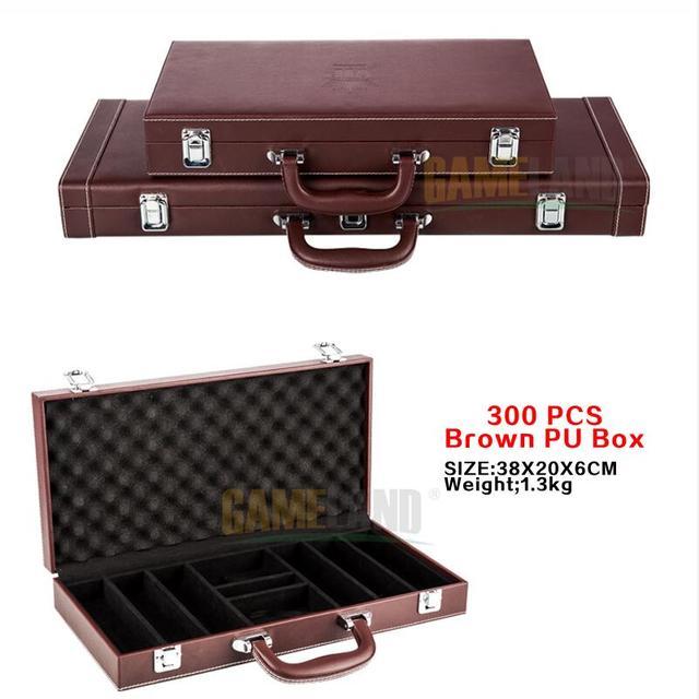 Malette poker en Aluminium/PU/ABS Haute Qualité avec 300/500 jetons 5