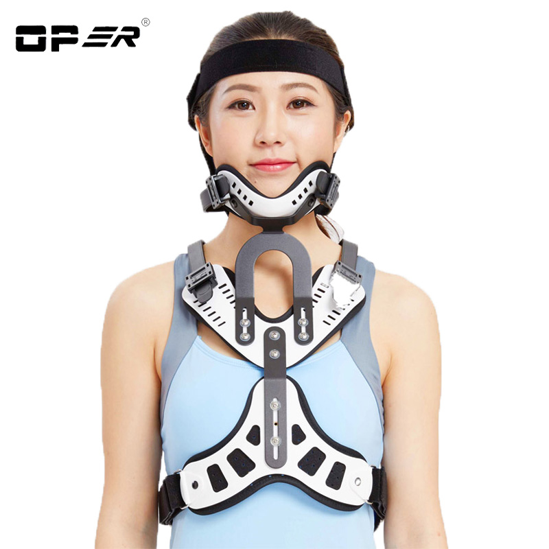 OPER Cervical Vertebra Tractor Traction Medical Neck Support Brace Treatment Spondylosis Head neck chest correction device NO-23 adult cervical traction apparatus inflatable support fixed tuohu neck with neck stretching his neck