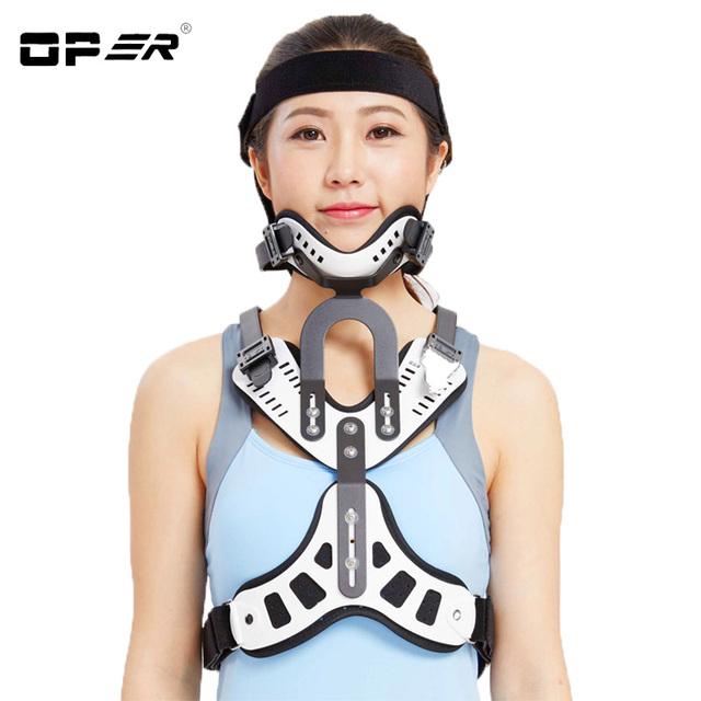Tractor de la vértebra cervical médica oper tracción tratamiento espondilosis head neck neck brace soporte pecho dispositivo de corrección no-23