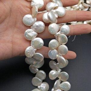 Image 3 - Shuangsheng nova pérola gotejamento natural 12 18mm pétala branca pérolas design original de alta qualidade diy jóias fazendo 55 peças