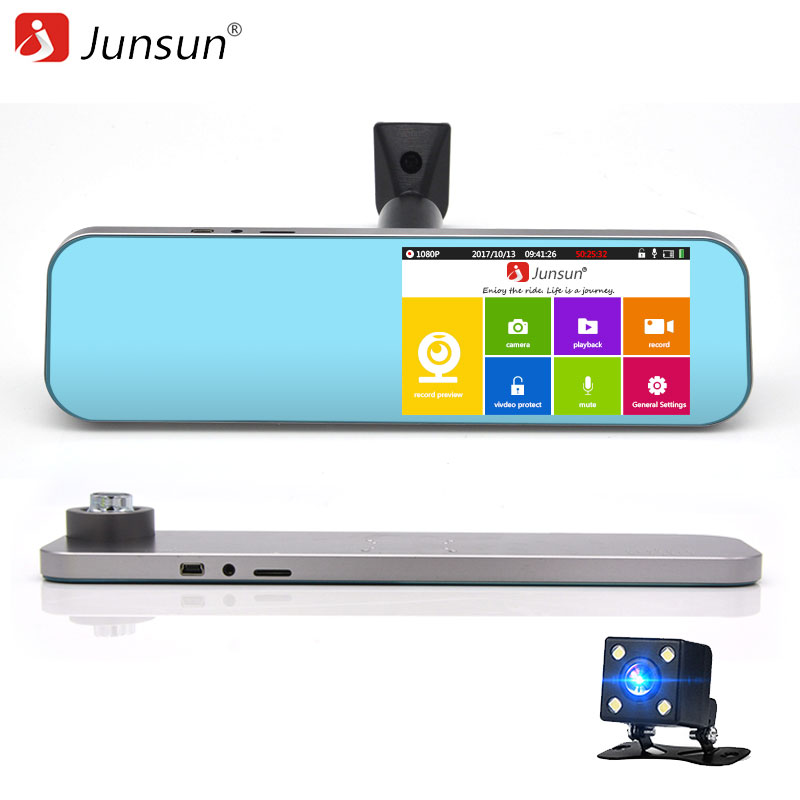 Junsun K720 Car DVRs 5   Video Recorder Mirror Night Vision HD 1080P Car Video Parking Monitoring Dashcam Registrar