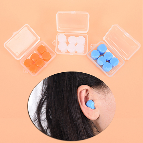 Ear Protector Workplace Safety Supplies The Best New Waterproof Soft Silicone Corded Ear Plugs Travel Sleep Noise Prevention Earplugs Noise Reduction Swimming Earplugs Earmuff High Standard In Quality And Hygiene