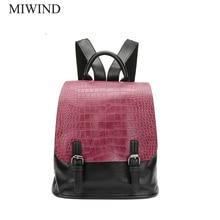 Miwind Для женщин рюкзак из искусственной кожи Рюкзаки softback Сумки Производитель сумка Повседневное Модные рюкзаки Meninas рюкзак WUB053