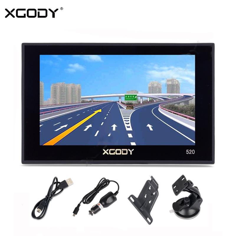 "XGODY 5/"" Auto Car GPS Lorry Navigation 8GB Capacitive Touchscreen 3D World maps"