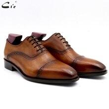 Cie/Мужские модельные туфли; кожаные мужские свадебные офисные туфли; мужская деловая обувь ручной работы из натуральной телячьей кожи; № 14