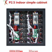 Factory direct sales 640mm 640mm P2 5 HD simple equipment cabinet display for fixed installation 160000dots