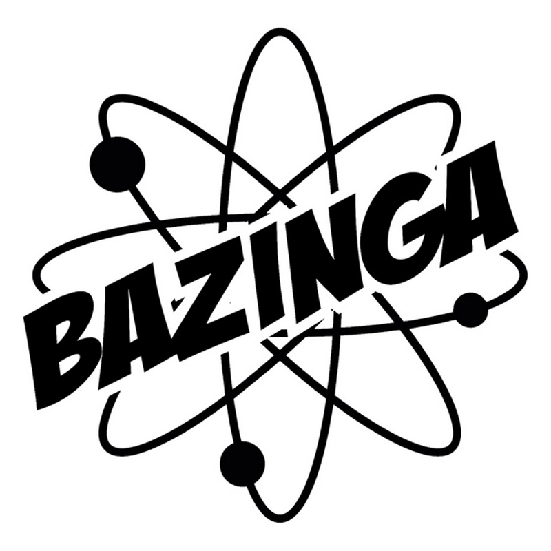 16.2cm*16cm Bazinga Science Atom Creative Vinyl Stickers Fashion Car Styling Black/Silver S3-4601