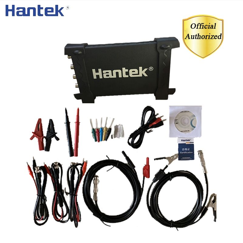 Hantek 6204BE Automotive Digital Oscilloscope 4 Channels 200Mhz Handheld Portable Oscilloscopes USB PC Osciloscopio Diagnostics image