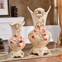 Europe ceramic creative Strawberry flowers vase pot home decor crafts room wedding vases decorations porcelain figurines gifts