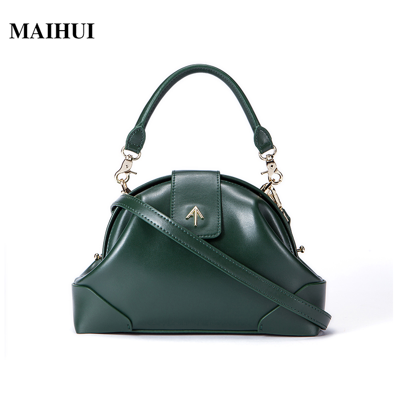 MAIHUI designer handbags high quality shoulder crossbody bags for women messenger 2017 new fashion cow genuine leather hobos bag tcttt luxury handbags women bags designer fashion women s leather shoulder bag high quality rivet brand crossbody messenger bag