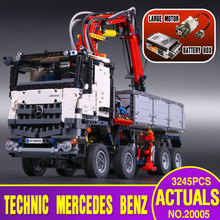 2793pcs NEW LEPIN 20005 technic series Mercedes-Benz Arocs Model Building blocks Bricks Compatible with  Toy for Children