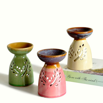 Aroma Stove Candlestick Ceramic Art Crafts Furnishing Articles Household Items Sitting Room Decorate Desktop Decoration