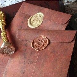 5 pçs/lote Criativo Kraft Envelope De Papel Para O Cartão Postal Do Vintage Estilo Europeu Novidade Caçoa o Presente de Papelaria Estudante 820
