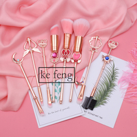 2018 Arrival Sailor Moon Cosmetic Brush Makeup Brushes Set Tools Kit Eye Liner Shader Natural Synthetic