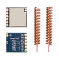 4pcs/lot RF4432PRO - Low cost Si4432 front end fsk wireless transceiver RF module + spring antennas