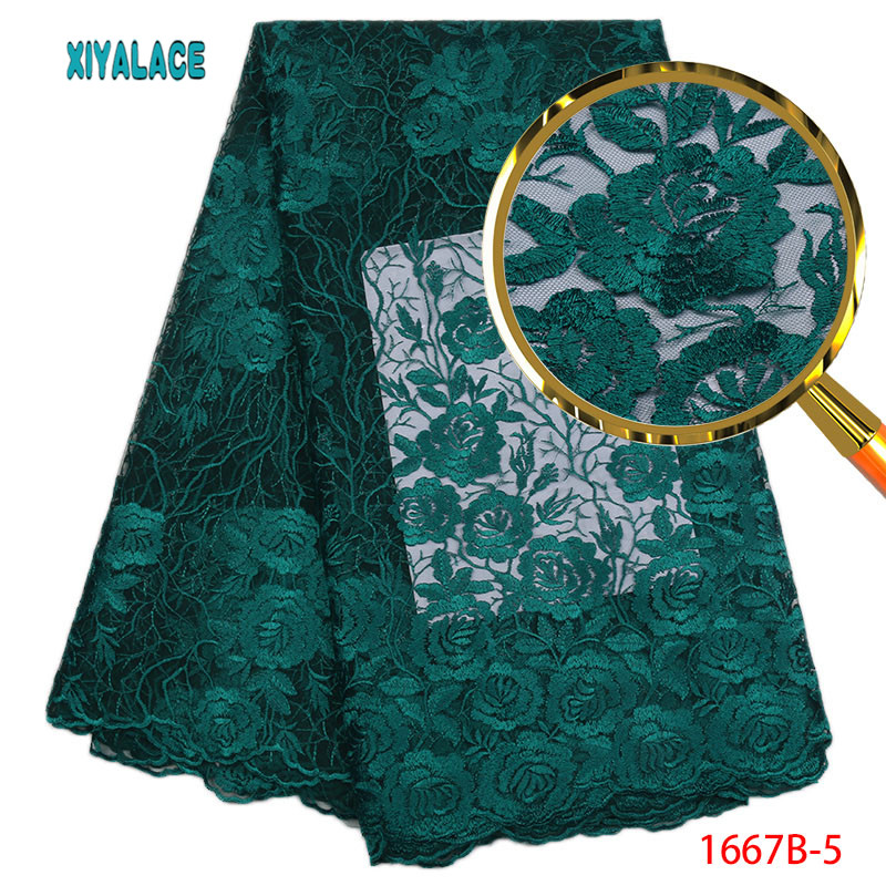 2019 Nigerian High Quality Wedding Lace African Lace Fabric Dubai Bridal Tulle French Cord Lace Fabric