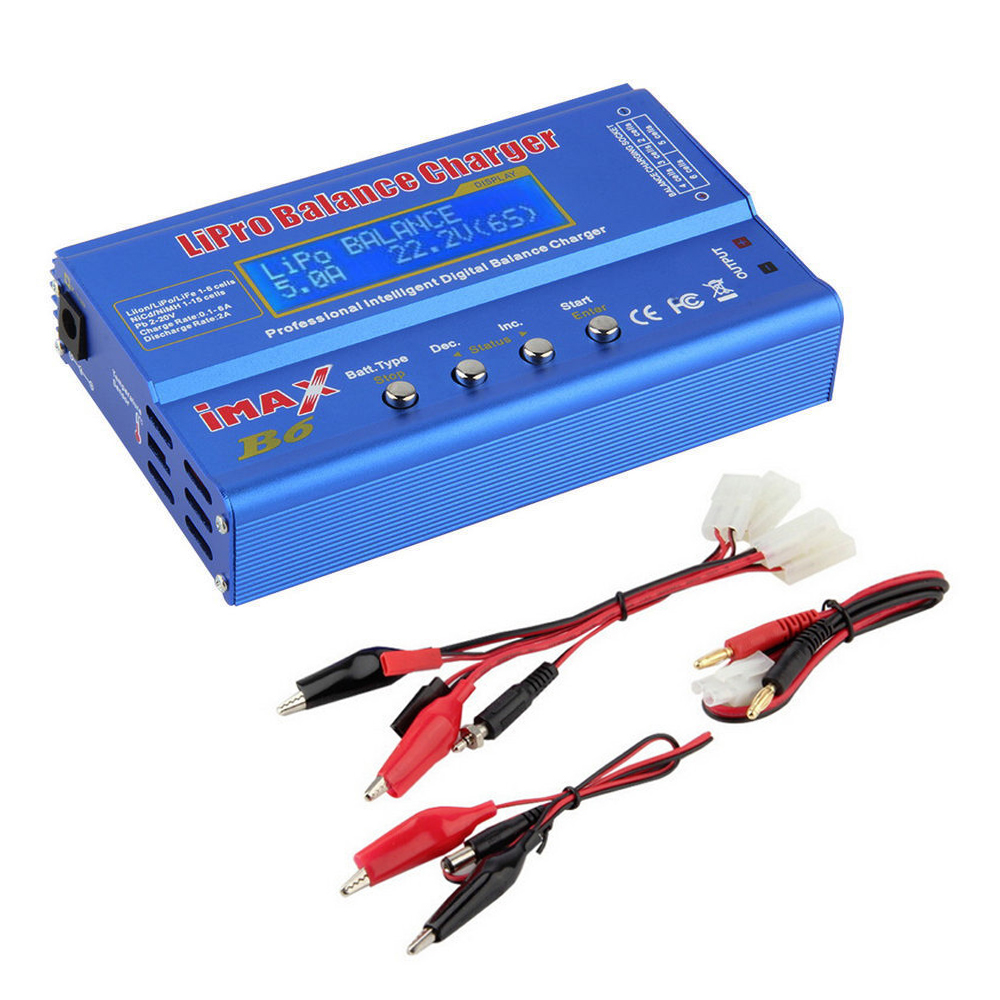 Wholesale 1pcs iMAX B6 Lipo NiMh Li-ion Ni-Cd RC Battery Balance Digital Charger Discharger for RC Quadcopter RC Part Dropship ocday 1set imax b6 lipo nimh li ion ni cd rc battery balance digital charger discharger new sale