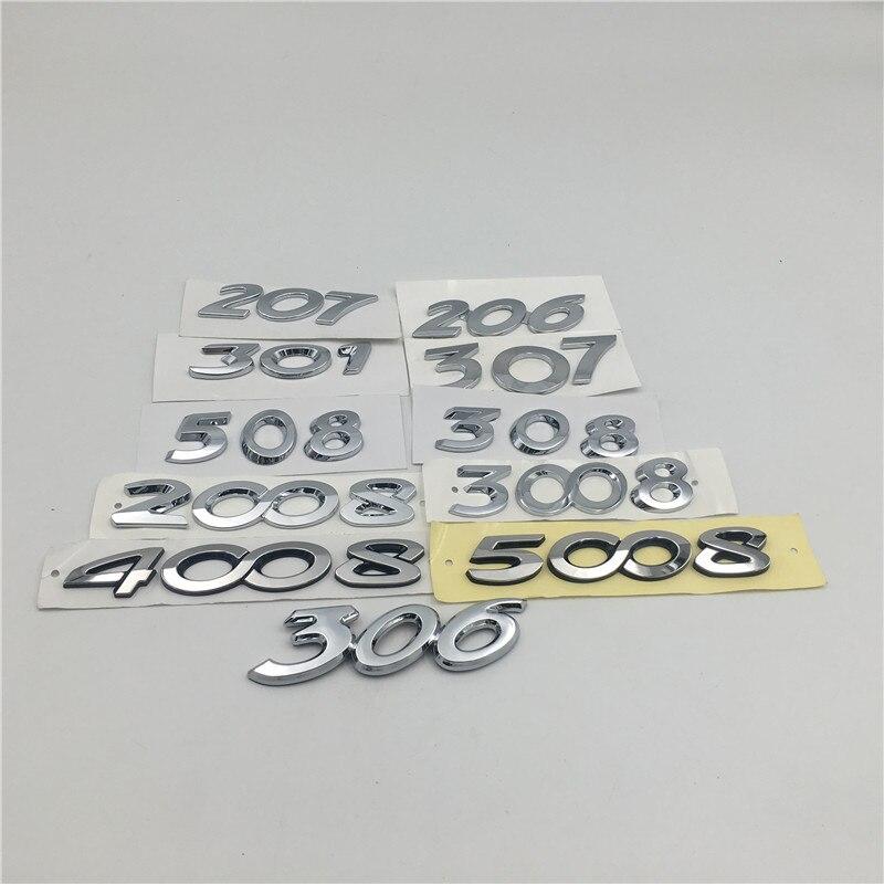 Для Peugeot 206 207 301 306 307 308 508 2008 3008 4008 5008 эмблема хвостовая часть заднего логотипа автомобильные аксессуары