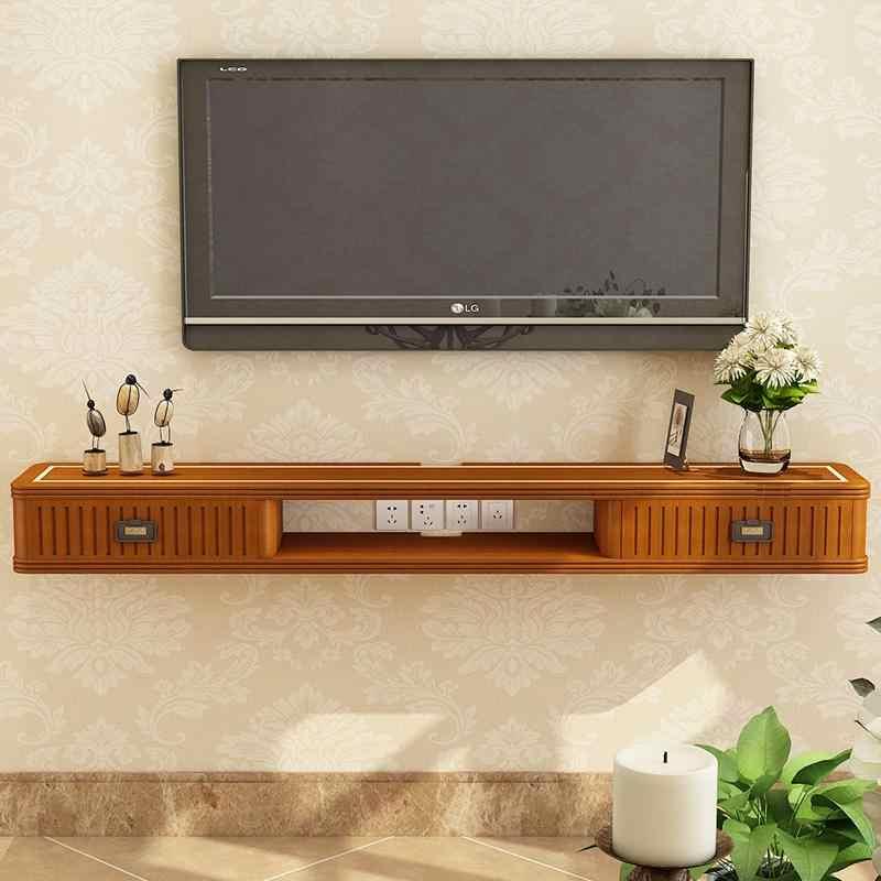 nouveau chinois en bois massif meuble tv mural decodeur support mural meuble tv routeur etagere murale meuble tv