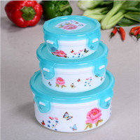 Creative Crisper Set Of Fresh Three Piece Four Piece Boutique Nabihua Round Fresh Lunch Boxes
