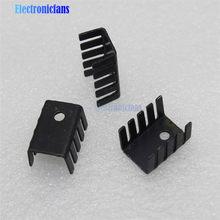 10 pces to-220 dissipador de calor preto to220 19x15x10mm ic dissipador de calor de alumínio bom
