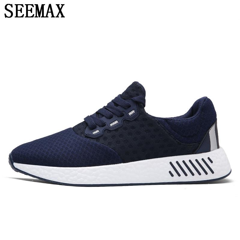 Новое поступление человек Обувь спортивная для девочек цвет: черный, синий оригинальный Спортивная обувь Для мужчин открытый Кроссовки спо...