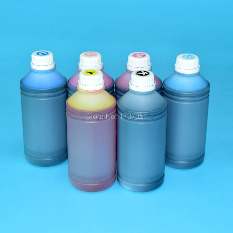 6 color 1000ml dye ink refill for Epson Sure Lab D3000 printer цены онлайн