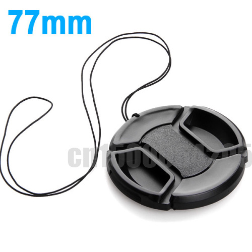 10pcs 77mm Center Pinch Snap on Front Cap for canon 5D2 7D 60D 24-70 24-105mm For Sigma 10-20 17-50mm 70-200 50/1.4 Lens cap image