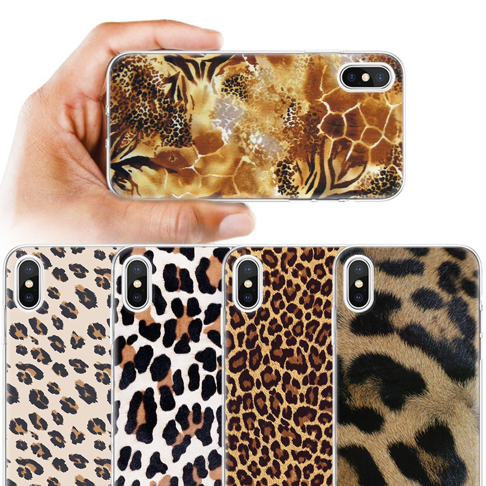 Giraffe Leopard <font><b>Tiger</b></font> Zebra Wilden Druck Fall für Apple <font><b>iPhone</b></font> 11 11Pro <font><b>X</b></font> XR <font><b>XS</b></font> <font><b>Max</b></font> 7 8 6 6S 5 5C 5S SE Plus 7Plus 8Plus 6P 7 + 8 + image