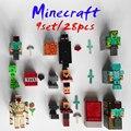 28 pcs/9 conjunto Minecraft brinquedos PVC figura de ação armadura espada pedra modelo collectible Presente de Natal para crianças crianças