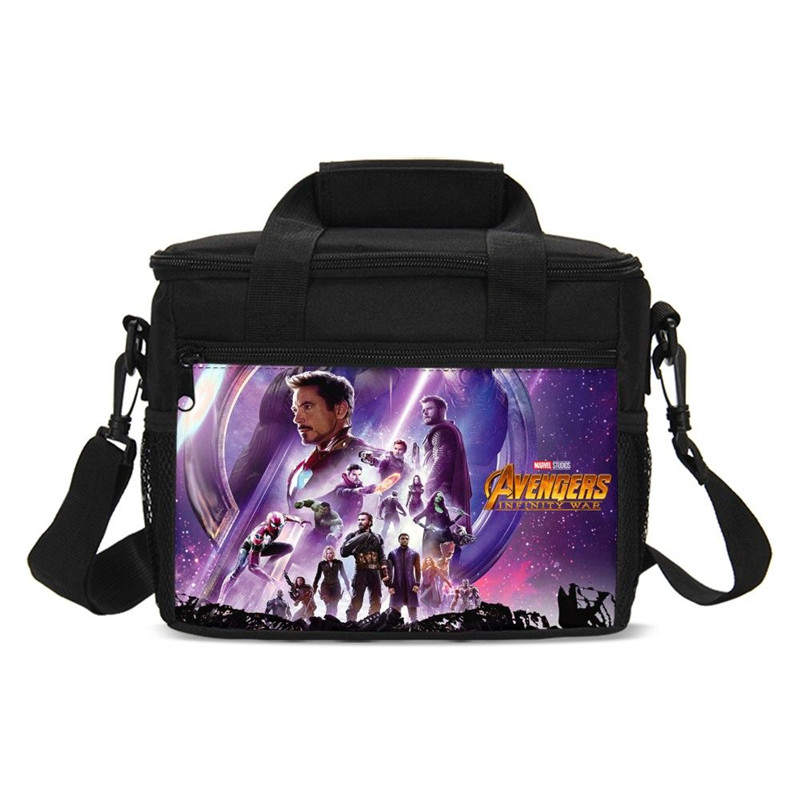 Small Lunch Bags Fashion Marvel Avengers Infinity War 3D Printing Ice Bags Insulated Thermal Picnic Lunchbox Handbags Sac A Main