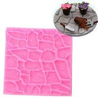 Stone Lines Bark Texture Stripe Lace Silicone Cake Mold Chocolate Fondant Cake Decorating Kitchen Baking Decoration