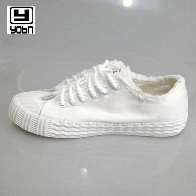 YOBN 2017 Women's Vulcanize Shoes female low canvas shoes women fashion breathable white cloth casual shoes solid shoes woman